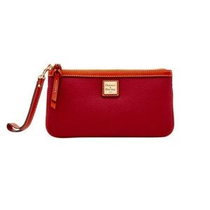 Dooney & Bourke Red Zippered Pouch / Wristlet